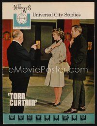 1p070 UNIVERSAL CITY STUDIOS exhibitor magazine July 1966 Hitchcock directing Torn Curtain!