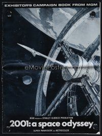 1p131 2001: A SPACE ODYSSEY pressbook '68 Stanley Kubrick, art of space wheel by Bob McCall!