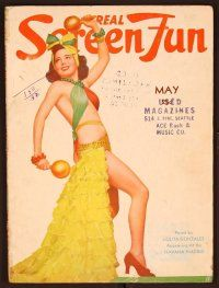 1p121 REAL SCREEN FUN magazine May 1940 full-length scantily clad sexy Lolita Gonzales!