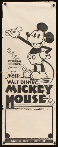 1r009 NEW WALT DISNEY MICKEY MOUSE long Aust daybill 32 great cartoon image with pie-cut eyes
