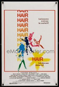 1r671 HAIR Belgian/English '79 Milos Forman, Treat Williams, musical, let the sun shine in!