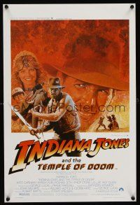 1r679 INDIANA JONES & THE TEMPLE OF DOOM Belgian/English '84 Harrison Ford w/whip & Kate Capshaw!