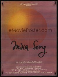 1r187 INDIA SONG French 23x32 '75 Marguerite Duras romantic fantasy musical!