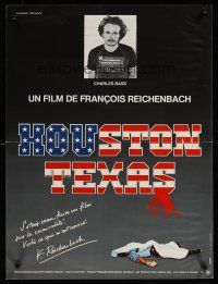 1r218 HOUSTON TEXAS French 15x21 '83 Francois Reichenbach documentary about Charles Bass!