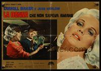 1r375 HARLOW Italian photobusta '65 sexy Carroll Baker in the title role!