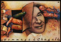 1r553 HOMMAGE A CHAGALL commercial Polish 27x38 '94 Gorowski art tribute!
