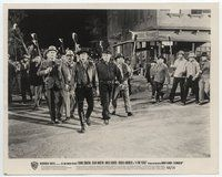 2a006 4 FOR TEXAS 8x10 still '64 Charles Bronson leads angry mob with torches down street!