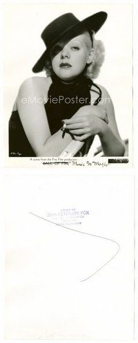 2a014 ALICE FAYE 8x10 still '35 sexiest smoking close up from Music is Magic by Gene Kornman!