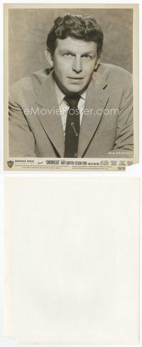 2a017 ANDY GRIFFITH 8x10 still '58 head & shoulders portrait in suit & tie from Onionhead!