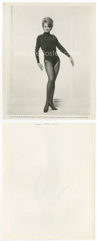 2a019 ANGIE DICKINSON 8.25x10.25 still '64 full-length portrait of the sexy actress wearing nylons!