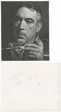 2a030 ANTHONY QUINN deluxe 8x10 still '64 super close up of the star from Behold a Pale Horse!