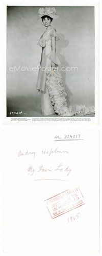 2a035 AUDREY HEPBURN 8x10 still '64 full-length wearing elaborate dress from My Fair Lady!