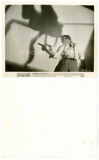 2a049 BEGINNING OF THE END 8x10 still '57 cool image of Peter Graves & shadow of giant grasshopper!
