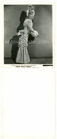 2a056 BETTY GRABLE 8x10 still '43 full-length smiling in cool dress from Sweet Rosie O'Grady!