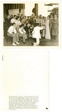 2a061 BIOGRAPHY OF A BACHELOR GIRL candid 8x10 still '34 Ann Harding's birthday celebrated by cast!