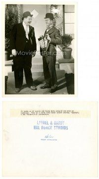 2a067 BLOTTO 8x10 still '30 drunk Oliver Hardy laughs at Stan Laurel smuggling liquor in pants!