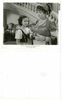 2a069 BLUE BIRD 8x10 still '40 young Shirley Temple standing next to Laura Hope Crews!