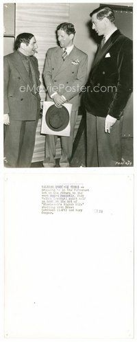 2a071 BLUEBEARD'S EIGHTH WIFE candid 7.75x9.5 still '38 Cooper & Lubitsch visited by Rudy Vallee!
