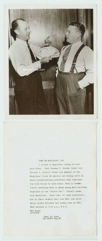2a016 AMOS 'N' ANDY 8x10 still '35 Freeman Gosden doing magic trick for Charles Correll!