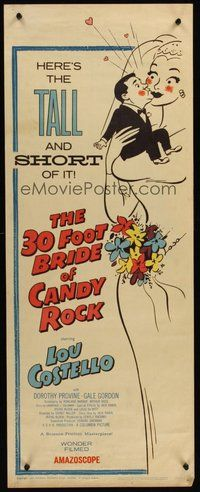 2d007 30 FOOT BRIDE OF CANDY ROCK insert '59 great art of Costello, a science-friction masterpiece!