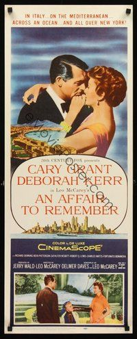 2d017 AFFAIR TO REMEMBER insert '57 romantic close-up art of Cary Grant about to kiss Deborah Kerr!