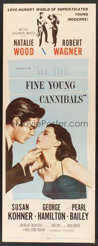 2d021 ALL THE FINE YOUNG CANNIBALS insert '60 art of Robert Wagner about to kiss sexy Natalie Wood!