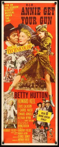 2d027 ANNIE GET YOUR GUN insert '50 Betty Hutton as the greatest sharpshooter, Howard Keel