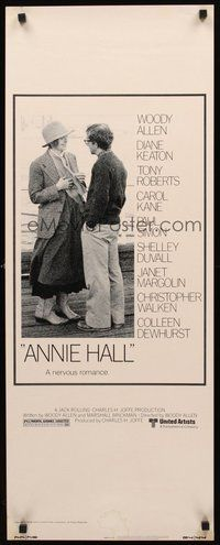 2d028 ANNIE HALL insert '77 full-length Woody Allen & Diane Keaton, a nervous romance!