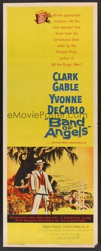 2d036 BAND OF ANGELS insert '57 Clark Gable buys beautiful slave mistress Yvonne De Carlo!