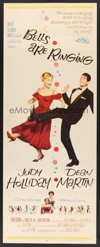2d046 BELLS ARE RINGING insert'60 full-length image of Judy Holliday & Dean Martin singing & dancing