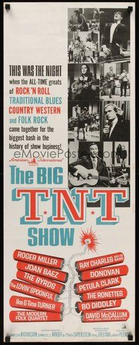 2d053 BIG T.N.T. SHOW insert'66 all-star rock & roll, traditional blues, country western & folk rock