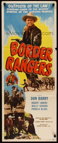 2d073 BORDER RANGERS insert '50 Don 'Red' Barry, Robert Lowery, a last stand for justice!