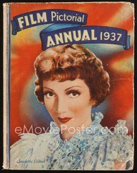 2e074 FILM PICTORIAL ANNUAL 1937 English hardcover book '37 Claudette Colbert plus all top stars!
