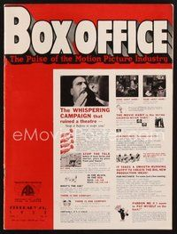 2e095 BOX OFFICE exhibitor magazine February 25, 1932 Boris Karloff in Behind the Mask!