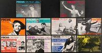 2e047 LOT OF 10 FOCUS ON FILM MAGAZINES '70-72 the first ten issues starting with vol 1 no 1!