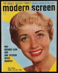 2e113 MODERN SCREEN magazine June 1956 Jane Powell brings her baby home!
