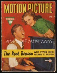 2e116 MOTION PICTURE magazine April 1941 Mickey Rooney plays piano for Judy Garland!