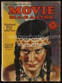 2e124 MOVIE MAGAZINE magazine November 1925 art of Native American Richard Dix by Leo Sielke, Jr.!