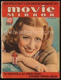 2e126 MOVIE MIRROR magazine October 1937 portrait of beautiful Irene Dunne by George Hurrell!