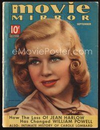 2e125 MOVIE MIRROR magazine September 1937 portrait of pretty Ginger Rogers by James Doolittle!