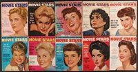 2e036 LOT OF 10 MOVIE STARS MAGAZINES '56 Doris Day, Kim Novak, Liz Taylor, Natalie Wood & more!