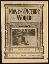 2e080 MOVING PICTURE WORLD exhibitor magazine August 26, 1916 lots of Charlie Chaplin, Fantomas