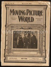 2e077 MOVING PICTURE WORLD exhibitor magazine March 18, 1916 cool full-color posters, Fairbanks