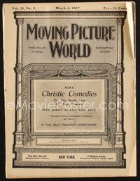 2e081 MOVING PICTURE WORLD exhibitor magazine March 3, 1917 Linder, Chaplin, Lloyd, George M. Cohan