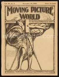 2e087 MOVING PICTURE WORLD exhibitor magazine Nov 30, 1918 D.W. Griffith, Harold Lloyd, Cannibals!