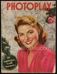 2e130 PHOTOPLAY magazine January 1945 great Christmas portrait of Ingrid Bergman by Paul Hesse!