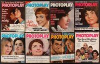 2e046 LOT OF 19 PHOTOPLAY MAGAZINES '63-65 Sean Connery, Jackie Kennedy, Debbie Reynolds & more!