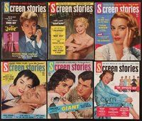 2e037 LOT OF 11 SCREEN STORIES MAGAZINES '56 Liz Taylor, Janet Leigh, Doris Day & many more!