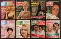 2e044 LOT OF 23 SCREEN STORIES MAGAZINES '63-64 Audrey Hepburn, Liz Taylor, Natalie Wood & more!