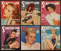 2e032 LOT OF 11 SCREENLAND MAGAZINES '51 Liz Taylor, Jane Russell, Doris Day, Susan Hayward+more!